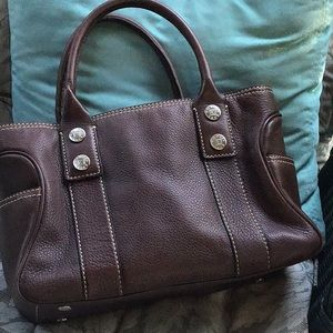 Gorgeous Michael Kors brown leather satchel